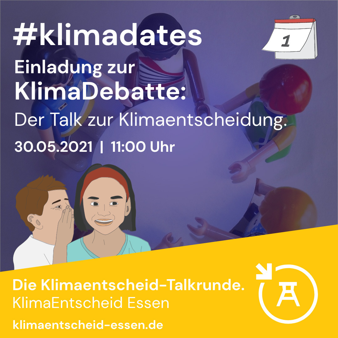 Einladung zur Klimadebatte: Der Talk zur Klimaentscheidung